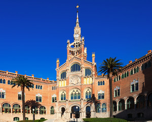 Main facade of hospital de Sant Pau. Barcelona