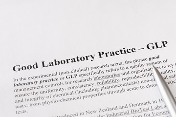 good laboratory practice or GLP refers to a quality system of ma