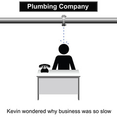 Kevin waited for the phone to ring cartoon