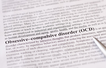 Obsessive compulsive disorder or OCD. education or healthcare co