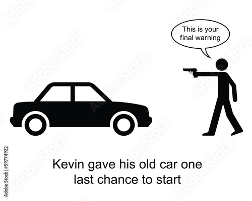 Kevin gave his car one last chance