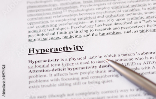 hyperactivity - education or health care background