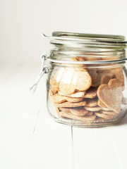 Jar with Cookies in the shape of Hearts