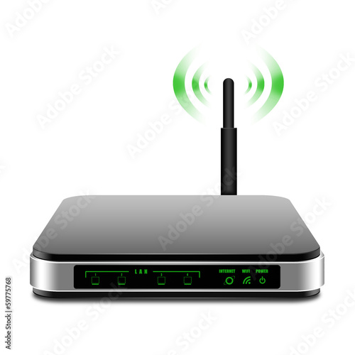 Wireless Router with the antenna illustration