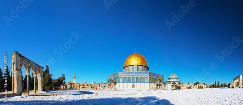 Deurstickers Midden Oosten Dome of the Rock mosque in Jerusalem