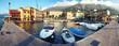 canvas print picture - Hafen Am Gardasee - Malcesine