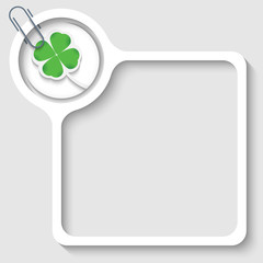 text frame for any text with cloverleaf and paper clip