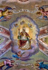 Saint Peter, church ceiling Corniglia, Cinque Terre, Italy - rel