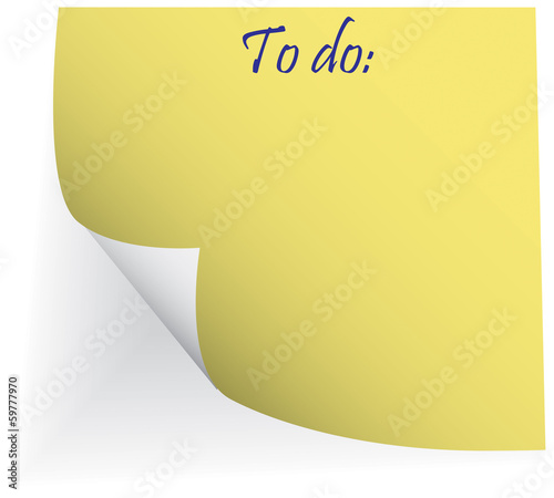"sticker with words ""to do"""