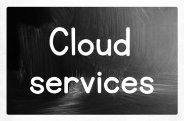 cloud services concept