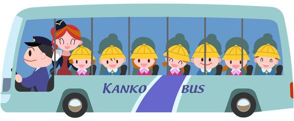 バス旅行の園児達