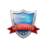 Blue Shield Icon Satisfaction Icon Badge