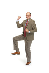 Businessman on a white background