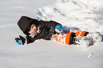 Roulade dans la neige