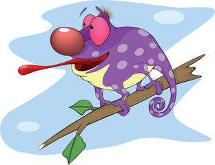 Big Chameleon cartoon