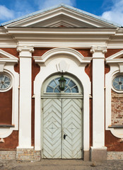 Door of stables of the Rundale Palace, Latvia, Europe