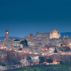 Orvieto, Umbria in the night