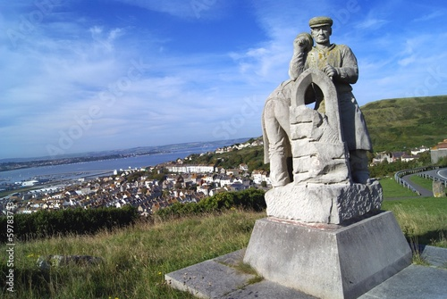statue, the isle of portland, Dorset, England, UK