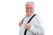 Jovial confident elderly man