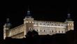 Alcázar de Toledo de noche.