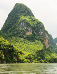 Karst mountain at li river china
