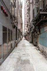 Empty backstreet in hong kong