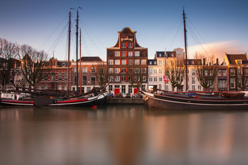 historical harbor of dordrecht