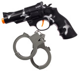 Revolver and handcuffs toys