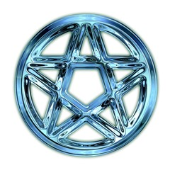 Glass pentagram.