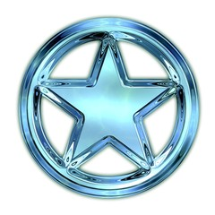 Glass star.