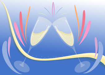 bicchieri festa colori