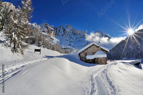 Leinwandbild Motiv Dolomiti, Pale di San Martino - Val Veneggia, Italy