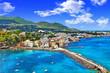 Leinwanddruck Bild - beautiful Ischia isalnd - view from castel. Italy