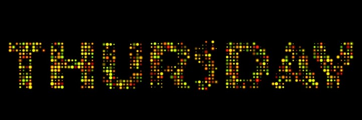 Thursday led sign