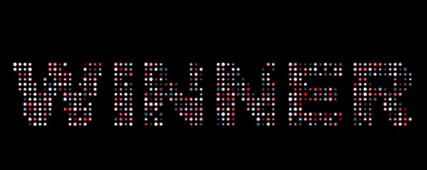 Winner led sign