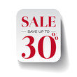 Sale thirty percent label