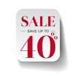 Sale fourty percent label