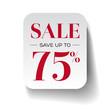 Sale seventy five percent label