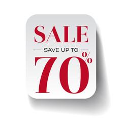 Sale seventy percent label