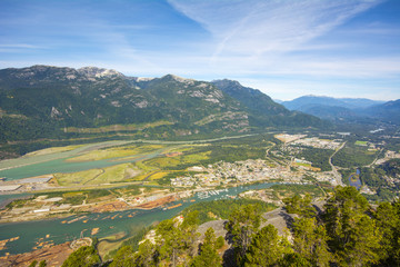 Howe Sound and Squamish town from Stawamus Chief 2, Canada