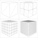 Cut Cube From The Simple To The Complicated Vector