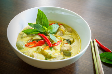 Curry vert de poisson