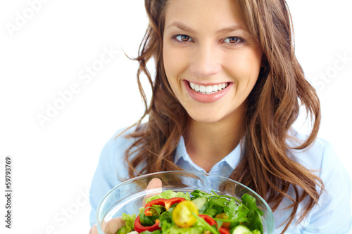 Female with salad