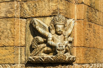 Hindu God, at Pashupatinath temple, Kathmandu,Nepal