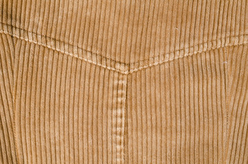 Seams on corduroy