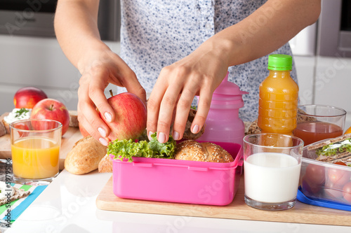 Aluminium Snack Pink lunch box for little girl