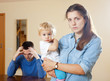 Family  with child having conflict