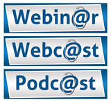 Webinar Webcast and Podcast Blue Blocks