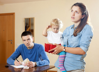 Financial problems in  family