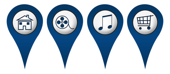 Home Movies Music Shopping Location Icons